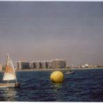 Prova nàutic esportiva en platja Racó de Mar